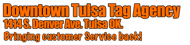 Downtown Tulsa Tag Agency Logo